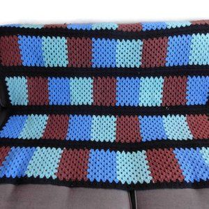 Vintage Granny Square Blanket Throw
